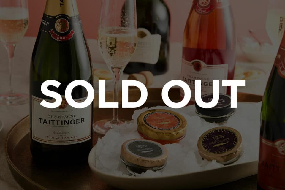 Sold out banner for Zupan's Markets Champagne and Caviar event