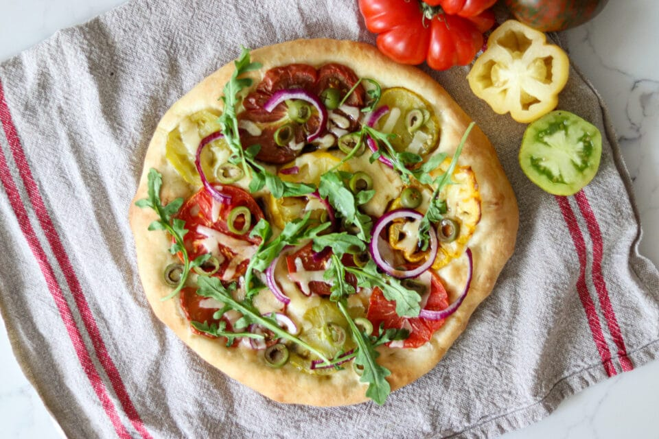 tomato pizza from Zupan's Markets