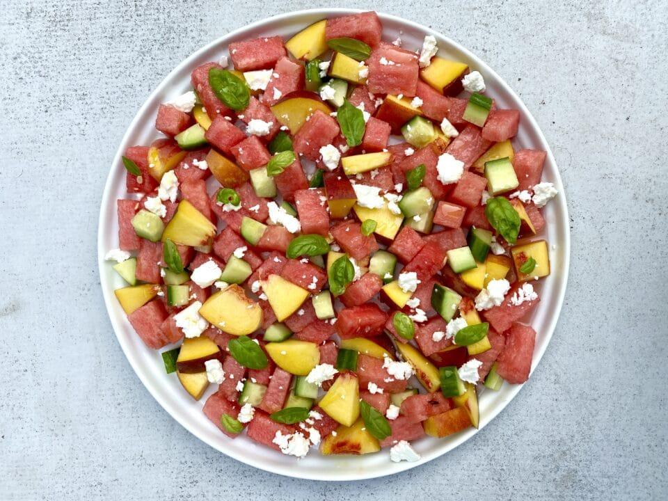 Watermelon salad from Zupan's Markets