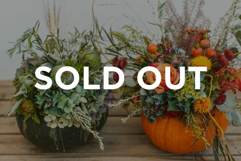 sold out floral design class