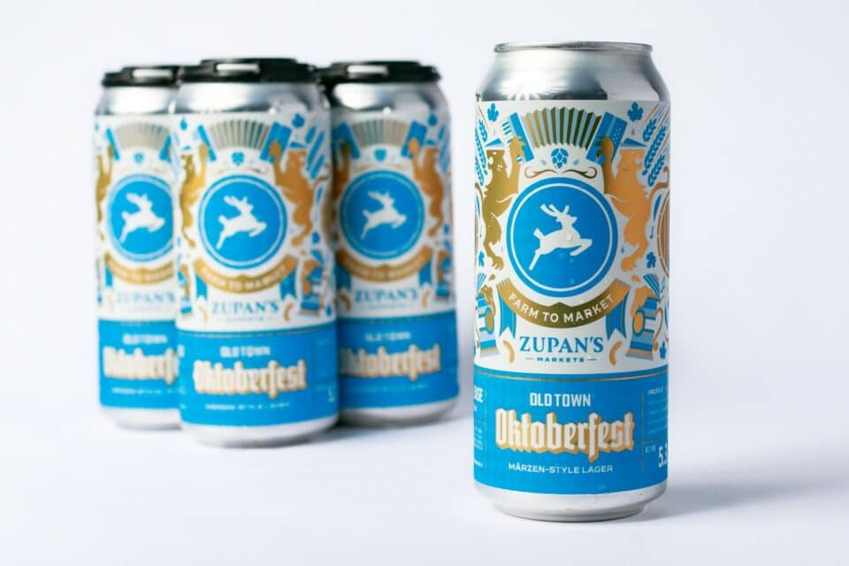 Zupan's Markets Oktoberfest collab beer with Old Town Brewing
