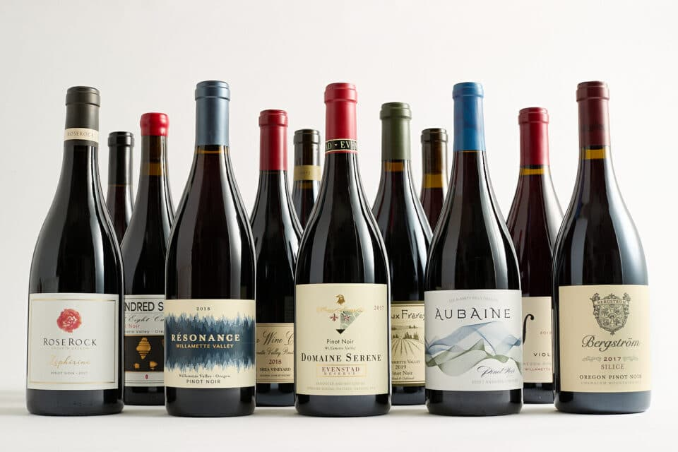bottles of Pinot Noir on sale at Zupan's Markets in Portland, OR and Lake Oswego, OR