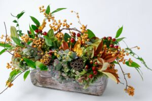 Fall themed floral arrangement from Zupan's Markets